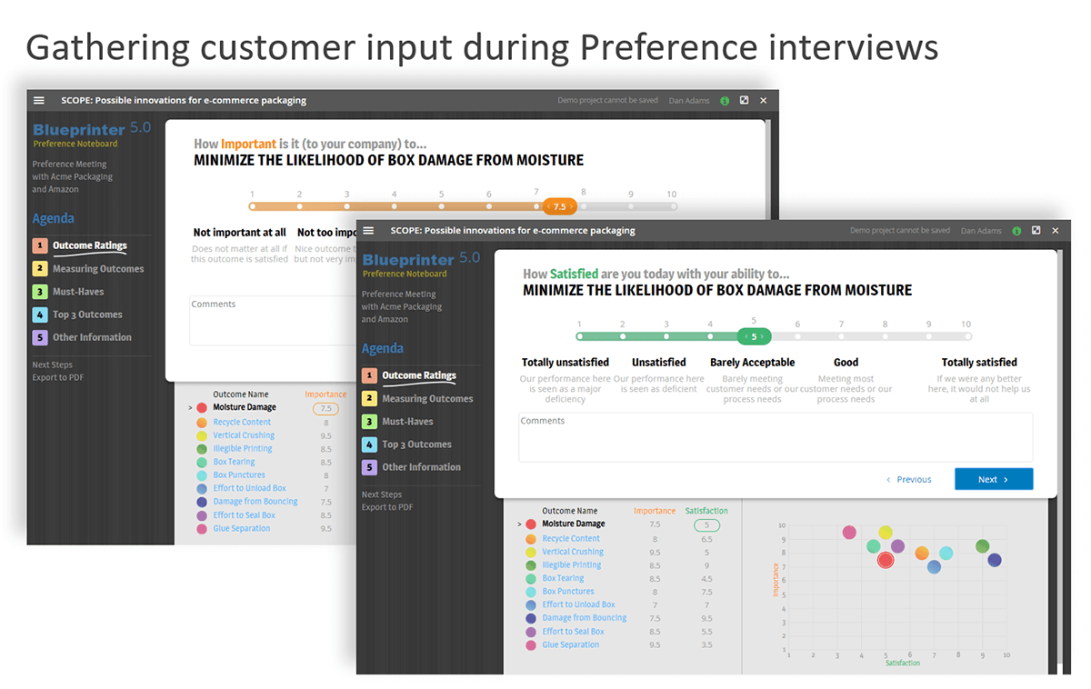 Use Preference interviews for quantitative customer insight