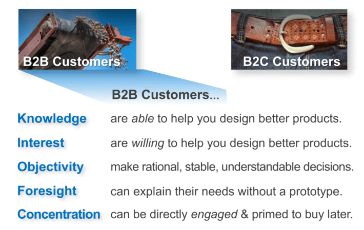 B2B customers give you 5 advantages for better insight and engagement.